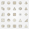 Geometry colorful icons