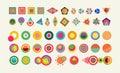 Geometry element set shape colorful icon symbol Royalty Free Stock Photo