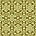 Sacred geometry golden background in continuous circles and flowers Royalty Free Stock Photo