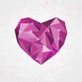 Geometry heart vector illustration Royalty Free Stock Photography