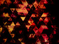 Geometry impressionism triangles abstract art drawing Royalty Free Stock Photos