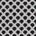 Geometry pattern vector black seamless Stock Photo