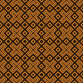 Geometry pattern vector seamless brown and orange Stock Image