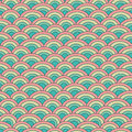 Geometry seamless vector pattern fish scale in