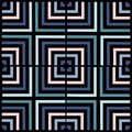 Geometry square vector pattern. ethnic seamless ornament. Abstract background - colorful lines.