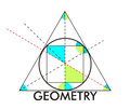 Geometry very big size important figures illustration Royalty Free Stock Photos