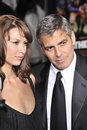 George Clooney, Sarah Larson Royalty Free Stock Images
