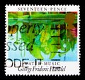 George Frederic Handel - Water Music, European Year of Music Europa C.E.P.T. 1985 serie, circa 1985 Royalty Free Stock Photo