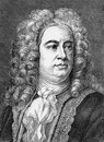 George frideric handel german georg friedrich händel was a german born british baroque composer famous for his operas oratorios Royalty Free Stock Photo
