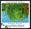 George Frideric Handel UK Postage Stamp Royalty Free Stock Photo