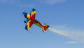 George rotaru leader with yr exa hawks of romania during aerobatics at aeronautic show morii lake bucharest Stock Photos