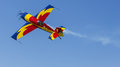 George rotaru leader with yr exa hawks of romania during aerobatics at aeronautic show morii lake bucharest Stock Images