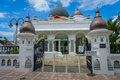 George Town, Malaysia - March 10, 2017: Kapitan Keling Mosque, built in the 19th century by Indian Muslim traders and