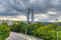 George washington bridge Arkivbild