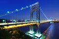 George Washington Bridge in New York Royalty Free Stock Photo