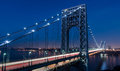 George Washington Bridge Night Scene Royalty Free Stock Photo