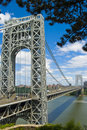 George Washington Bridge Over the Hudson Royalty Free Stock Images