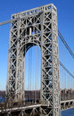 George Washington Bridge Tower Stock Photo