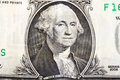 George washington on one dollar banknote portrait from dollars Stock Image