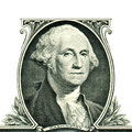 George washington on one dollar gravure of in front of the old banknote Royalty Free Stock Photos