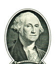 George washington on one dollar gravure of in front of the old banknote Royalty Free Stock Images