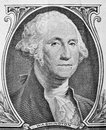 George washington portrait on one dollar bill close up usd american the united states currency money concept Stock Photography