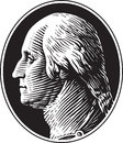 George Washington Portrait Vintage Style Stock Photography