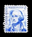 George Washington (1732-1799), 1st President, Famous Americans s Royalty Free Stock Photo