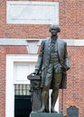 George washington statue of in front of the cityhall in philadelphia Stock Photo