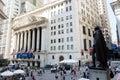 George Washington statue and New York Stock Exchange Royalty Free Stock Photo
