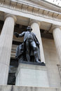 George Washington Statue Wall St. NYC Royalty Free Stock Photo