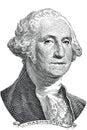 George Washington (vector) Royalty Free Stock Photo