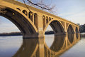 Georgetown bridge washington dc over the potomac river Stock Photography
