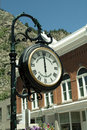 Georgetown clock mainstreet colorado town Royalty Free Stock Photos