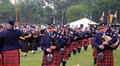 Georgetown highland Games Massed Bands Stock Images