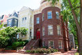 Georgetown historical townhouses Washington DC Royalty Free Stock Photo