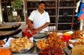 Georgetown, Malaysia: Indian Food Vendor Royalty Free Stock Photo