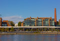 Georgetown Park waterfront on a warm evening in late autumn. Royalty Free Stock Photo