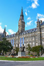 Georgetown University Campus in Washington DC Royalty Free Stock Photo