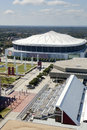 Georgia dome aerial view of the in atlanta is primarily the home stadium for the nfl s atlanta falcons and the ncaa s Stock Photography