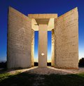 Georgia guidestones mysterious in north usa Royalty Free Stock Photos