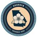 Georgia state label. Vector illustration decorative design Royalty Free Stock Photo