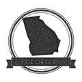 Georgia vector map stamp.