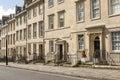 Georgian buildings in Gay street, Bath Royalty Free Stock Photo