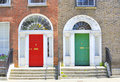 Georgian doors in Dublin Stock Photography
