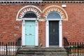 Georgian doors in Dublin Royalty Free Stock Photo