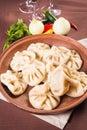 Georgian food,hinkali Royalty Free Stock Photo