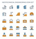 Geotechnical engineering icon