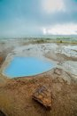 Geothermal activity landscape with hot springs iceland vertical view Royalty Free Stock Photography