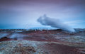 Geothermal area image from located at reykjanes peninsula in iceland Royalty Free Stock Image